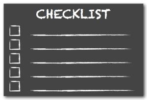 Checklist chalkboard